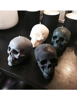 8oz Large Colored Skull Candle / Halloween Candle / Design Candle / Home Decor / Halloween Decoration / Pillar Candle by Etsy