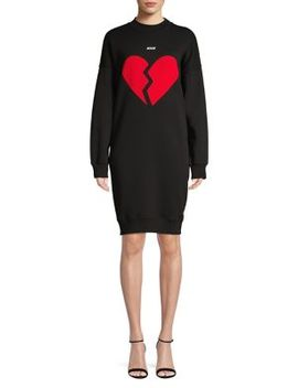 Main Graphic Cotton Sweater Dress by Msgm