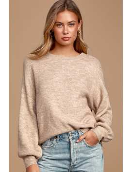 Layers Of Love Heathered Taupe Sweater by Lulus