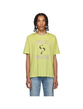 Green 'stolen Romantics' T Shirt by Stolen Girlfriends Club