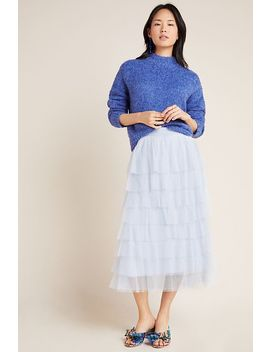 Ashley Tulle Midi Skirt by Anthropologie