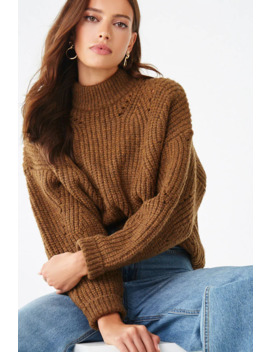 Chunky Marled Sweater by Forever 21