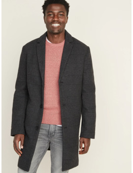 Soft Brushed Plaid Topcoat For Men by Old Navy