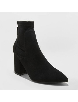 Women's Cornelia Microsuede Pointed Sock Bootie   A New Day™ by A New Day
