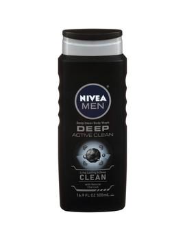 Nivea Men Deep Active Clean Body Wash With Natural Charcoal 16.9 Fl. Oz. Bottle by Nivea