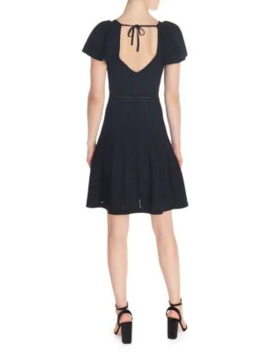 Pleated Fit & Flare Dress by Sandro