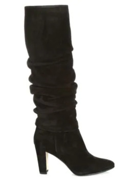 Shushanhi Slouch Suede Boots by Manolo Blahnik