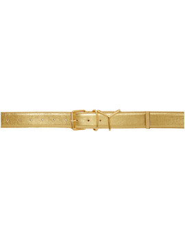 Gold Plain Y Belt by Y/Project