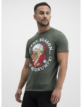 Christmas Disney Khaki Green Grumpy T Shirt   Xxx Ltuc136175580 by Argos