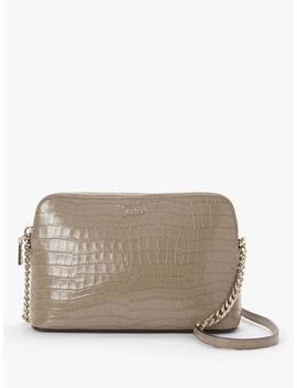 Dkny Bryant Dome Leather Cross Body Bag, Croc Dune by Dkny