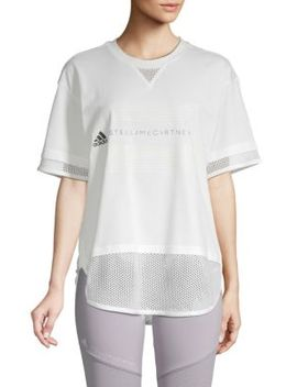 Logo Cotton Blend Tee by Adidas By Stella Mc Cartney
