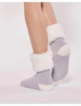 Sock With Fur Cuff by La Vie En Rose