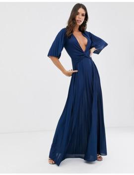 Asos Design Tall – Plissiertes Kimono Maxikleid Mit Verdrehtem Detail by Asos