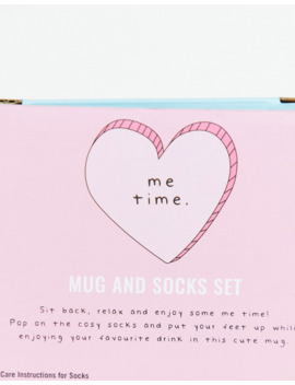 Fizz Me Time Mug And Socks Set by Asos