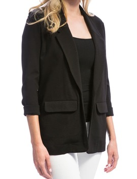 Knit Boyfriend Blazer by Liverpool