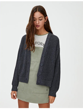 Basic Knit Cardigan by Pull & Bear