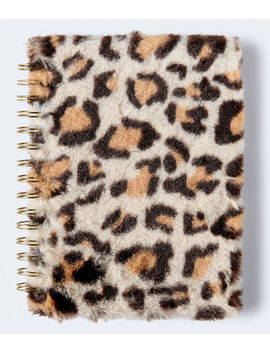 Faux Fur Spiral Notebook by Aeropostale