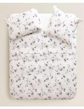 Bettbezug Mit Blumenprint  BettbezÜge   BettbezÜge   Schlafzimmer by Zara Home