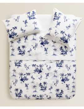 Bettbezug Mit Blauen Palmen  BettbezÜge   BettbezÜge   Schlafzimmer by Zara Home