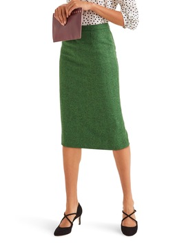 Tweed Pencil Skirt by Boden
