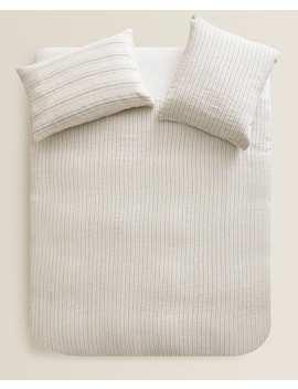 Bettbezug Aus Leinen Mit Streifen  BettbezÜge   BettbezÜge   Schlafzimmer by Zara Home