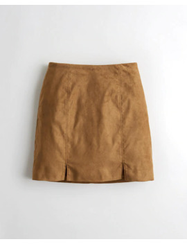 Ultra High Rise Faux Suede Skirt by Hollister