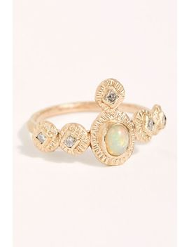 Adessa Diamond Opal Ring by Franny Elizabeth Jewelry