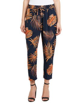 Whistle Palm Print Jogger Pant, Ink & Orange by Farmers