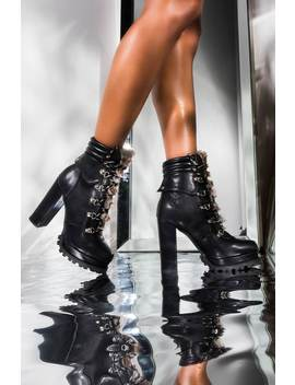 Get Used To It Chunky Heeled Platform Bootie by Akira