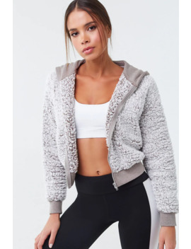 Active Faux Shearling Jacket by Forever 21