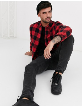 New Look Shirt In Red Buffalo Plaid by New Look