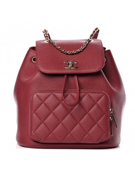 Chanel Caviar Quilted Business Affinity Backpack Burgundy by Chanel