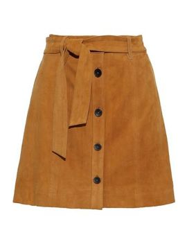 Neida Belted Suede Mini Skirt by Joie