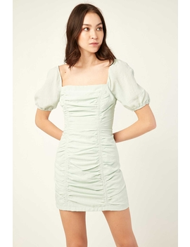 Angelica Mini Dress Green by Perfect Stranger