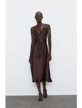 Vestido Midi Estilo Lingerie by Zara