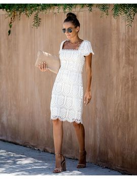 Full Of Flavor Pineapple Eyelet Dress   Final Sale by Vici
