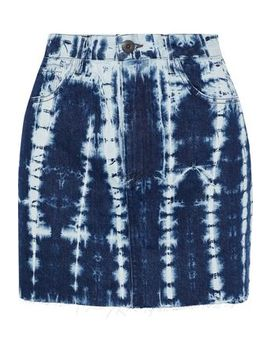 Celine Bleached Denim Mini Skirt by 3x1