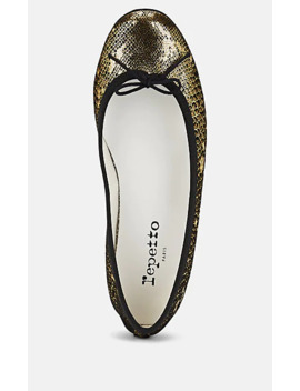 Cendrillon Snakeskin Stamped Suede Ballet Flats by Repetto