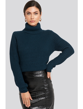 Tinelle Rollneck Knit Blå by Rutcircle