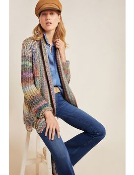 Rainbow Stitched Cardigan by Anthropologie