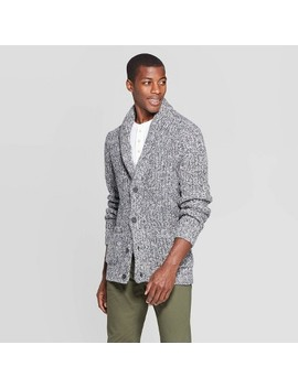 Men's Casual Fit Chunky Cardigan Sweater   Goodfellow & Co™ Gray by Goodfellow & Co