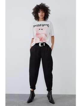 Teddy Bear Print T Shirt by Zara