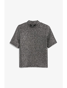 Glittery High Neck Top by Monki