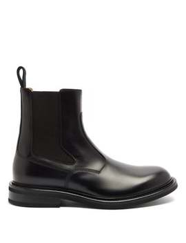 Panelled Leather Chelsea Boots by Bottega Veneta