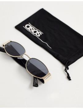 Asos Design Metal &Amp; Plastic Oval Sunglasses by Asos Design