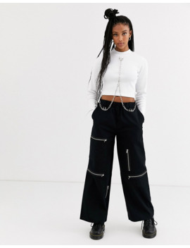 The Ragged Priest Crop Top With Chain Detail by The Ragged Priest