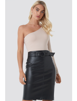 Belted Midi Skirt Svart by Na Kd Trend