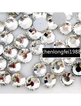1440p Ss3 Ss50 Clear Crystal Diy Flatback Rhinestones For Nail Art Phone Case by Unbranded
