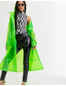 Asos Design X Christian Cowan Lime Clear Trenchcoat by Asos Design