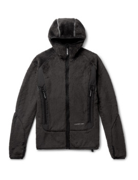 Shell Trimmed Polartec Fleece Zip Up Hoodie by And Wander